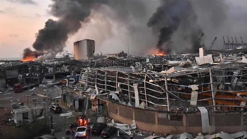 Eπισημάνσεις σχετικά με τις καταστροφικές εκρήξεις στην Βηρυτό του Λιβάνου.
